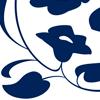 Geboortekaartje Welmoed Baby meisje ontwerp opmaak Inkt Bloemen blaadjes strak eenvoudig donkerblauw klassiek modern sierlijk