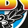 Geboortekaartje Indy Baby Jongen Blauw ontwerp beeldmerk speen lauwer krans motor race rally checked flag winner stoer strak modern studio hille hilda groenesteyn