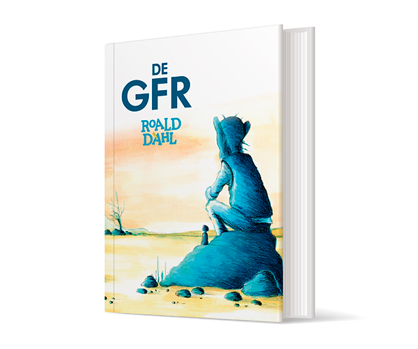 Illustratie Cover Omslag Kaft Boek Book Kinderboek The BFG GVR GFR Reus Roald Dahl Acryl Crayon studio Hille Hilda Groenesteyn Regaad