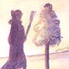 Illustratie voor De GFR van Roald Dahl The BFG The Queen De Keninginne Acrylverf en krijt Reuzenland Sofie Tekening Hilda Groenesteyn studio Hille Regaad Martsje de Jong