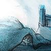 Illustratie voor De GFR van Roald Dahl The BFG The Snatch De Untfiering Acrylverf en krijt Reuzenland Sofie Tekening Hilda Groenesteyn studio Hille Regaad Martsje de Jong