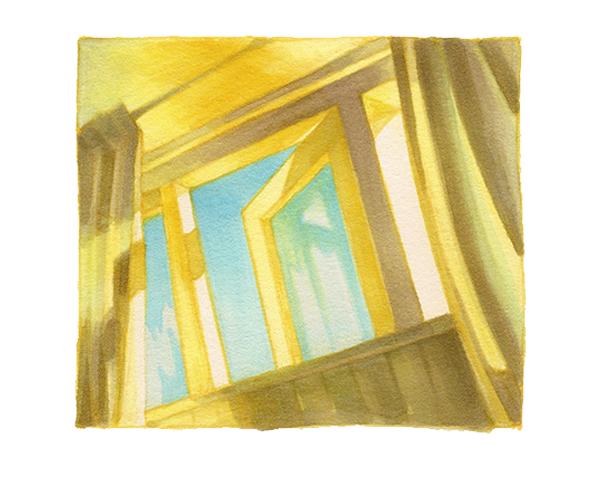 Hilda Groenesteyn studio Hille studiohille illustratie Hope copicmarkers window yellow drawing markers Groningen