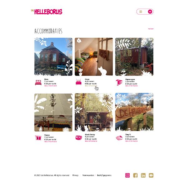 studio Hille, Hilda Groenesteyn, Webdesign, vormgeving website, de Helleborus, Engelbert, Groningen, camping, Bed&Breakfast