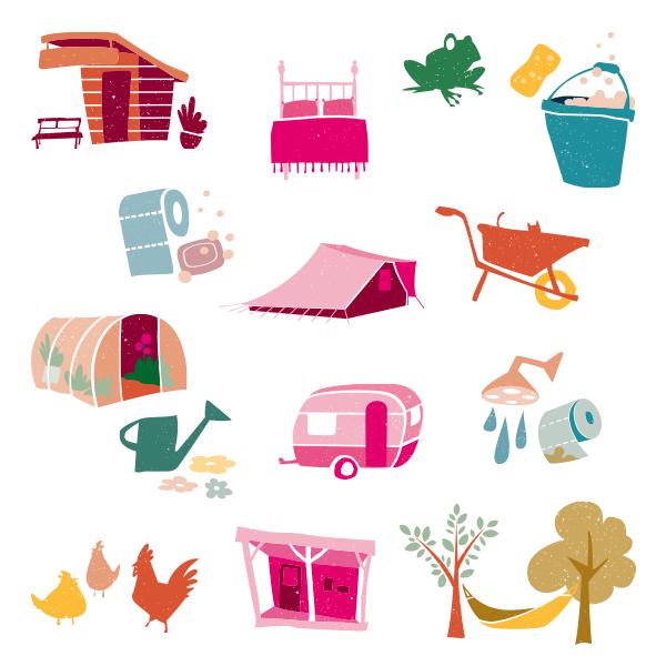 studio Hille, Hilda Groenesteyn, Illustraties, Webicons, icondesign,Icons, Webdesign, vormgeving website, de Helleborus, Engelbert, Groningen, camping, Bed&Breakfast
