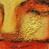 Schilderij Acryl verf Zand Structuur op Karton Gezichten Portretten Mensen Kleurrijk Naief