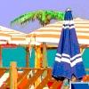 DTP Desktop publishing opmaak grafisch tekst poster kleurig zon zee strand boekwinkel Scholten Wristers Selexys promotie reclame advertentie zomer