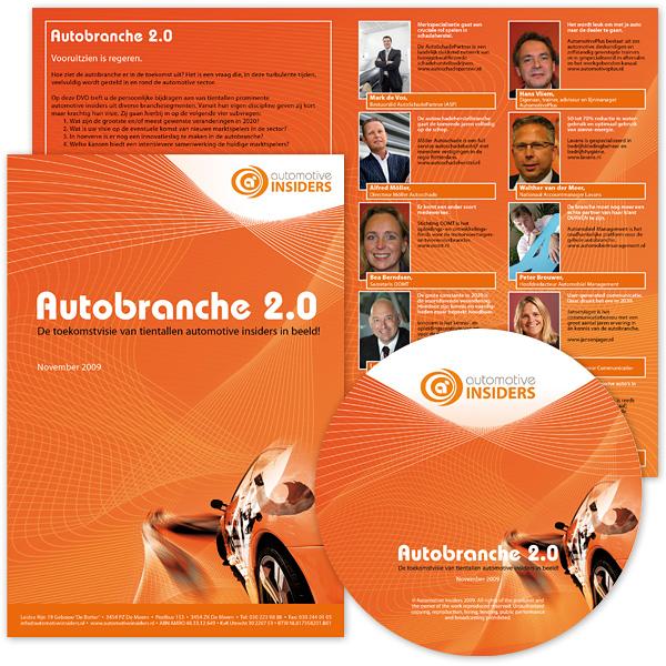 DTP DVD inlay hoes Boekje Booklet cover CD Logo ontwerp Autobranche Automotive Insiders foto Desktop publishing opmaak grafisch tekst promotie reclame stijlvol