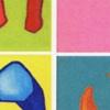 Geboortekaartje van zes schilderijen Acryfverf op canvas Baby Kreurrijk Colourfull Boot Huis Wieg Zeepaard Poes Hert persoonlijk uniek origineel