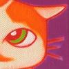 Schilderij acrylverf op canvas dubbel tweeluik geboortekaartje baby poes kat kleuter kleurrijk vrolijk persoonlijk uniek origineel